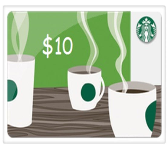 Receive a Free Starbucks $10 Gift Card